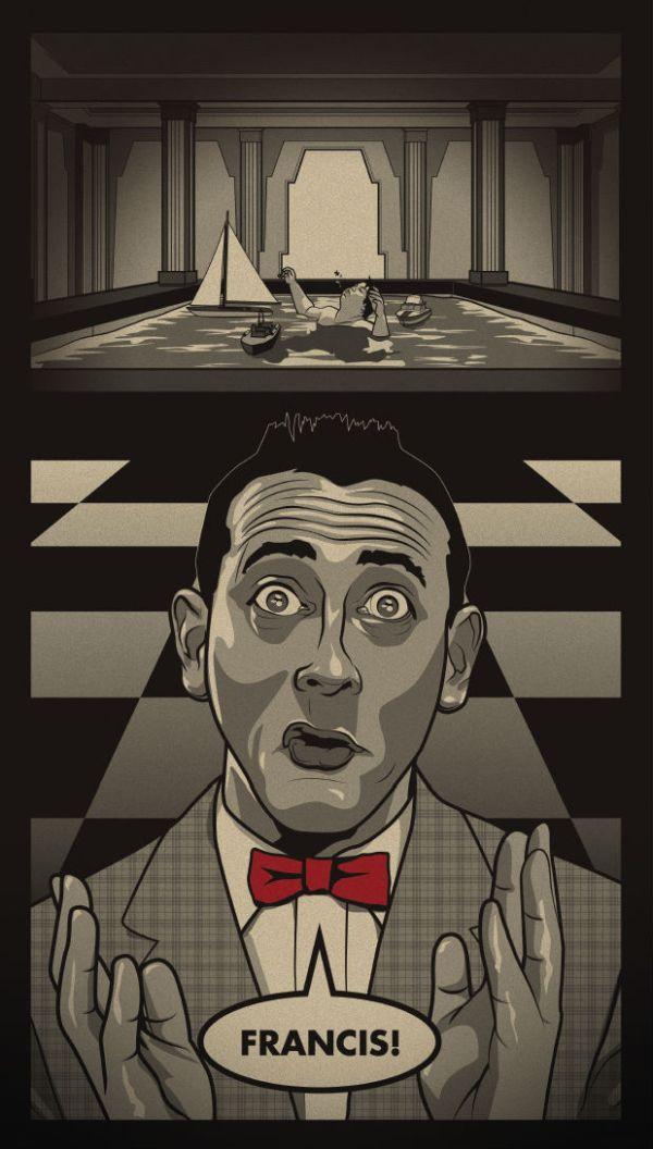 Pee-wee Herman vs Francis by Paul Ainsworth - Pee-wee's Big Adventure