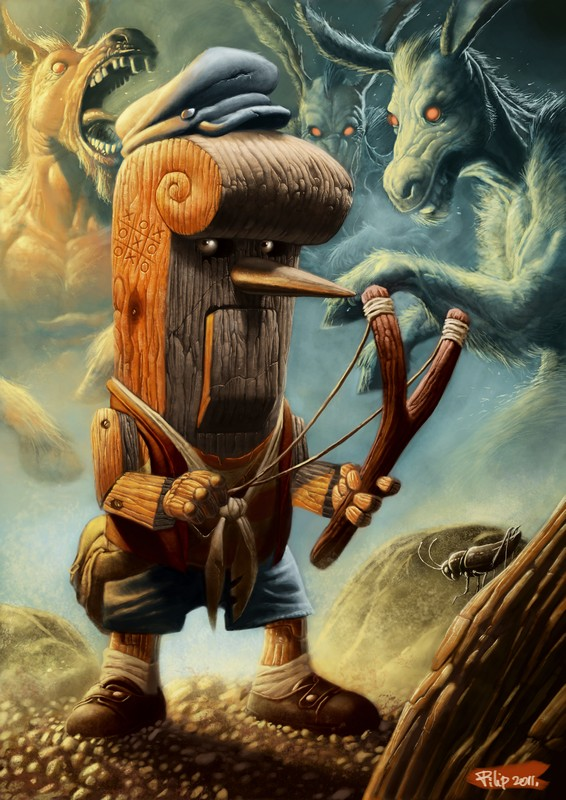 Pinnochio by Filip Acovic - Reimagined Fairy Tale Illustrations