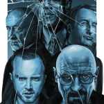 Sky Blue - Breaking Bad Art by Rebecca Hahner - Walter White, Jesse Pinkman, Saul Goodman, Gus Fring, Mike Ehrmantraut