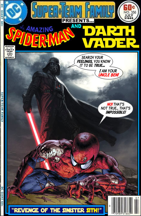 Spider-Man vs Darth Vader - Star Wars x Marvel Comics Crossover