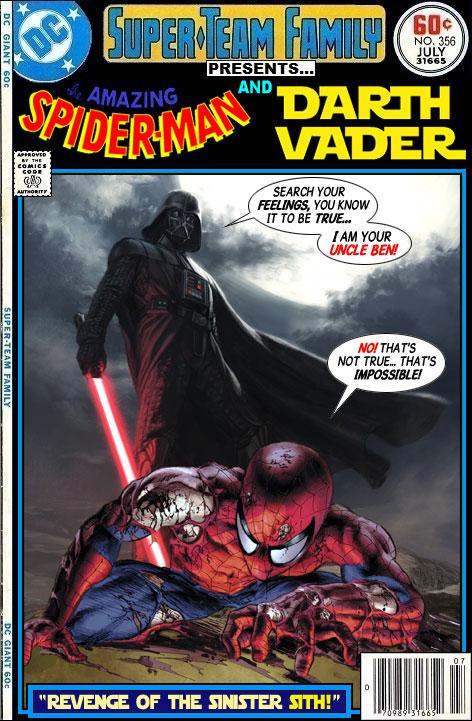 Spider-Man vs Darth Vader - Star Wars x Marvel Comics Crossover