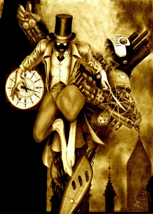Spring-Heeled Jack by Talon Warlock - Steampunk - Reimagined Fairy Tale Illustrations