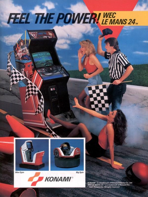 WEC Le Mans 24 (1986) - Konam Arcade Flyer