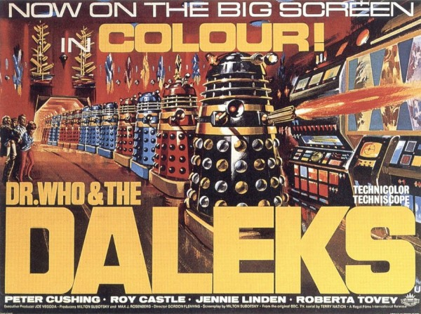 Poster: Dr. Who and The Daleks (1965) Now on the Big Screen in Colour!