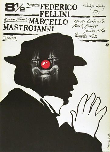 Polish 8 1/2 Poster - Federico Fellini