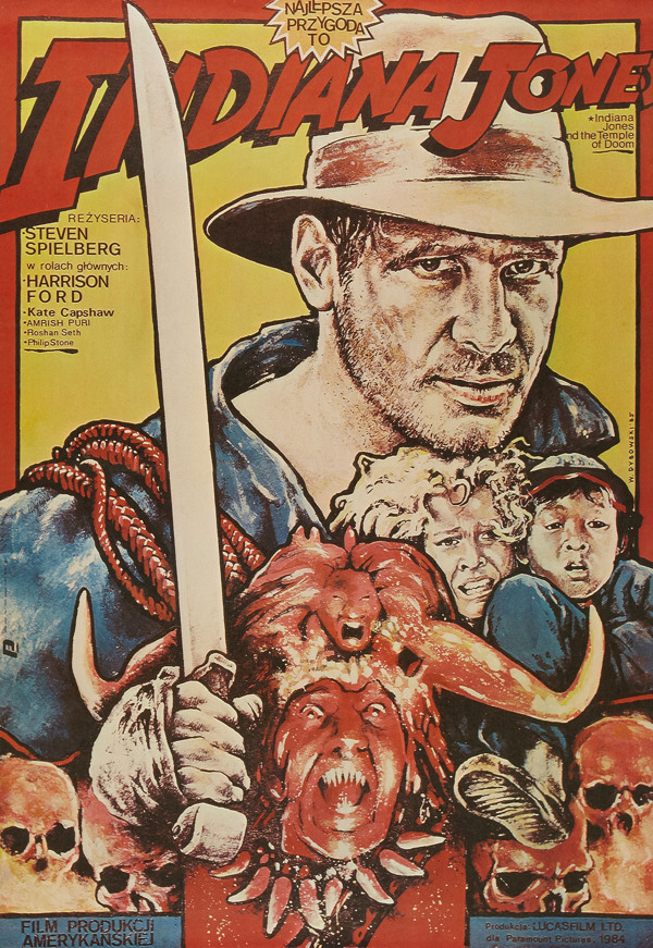 polish indiana jones and the temple of doom poster - harrison ford