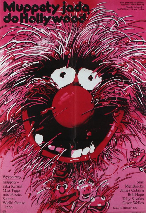 Polish Muppet Movie Poster - animal, jim henson