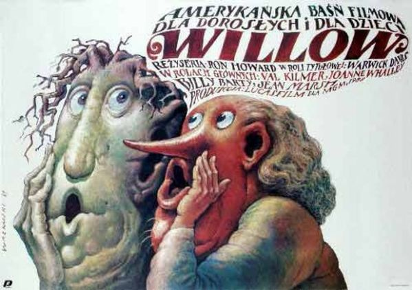 polish willow poster - Warwick Davis, Ron Howard, Val Kilmer