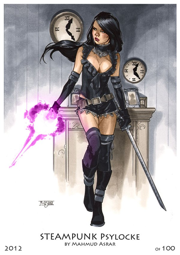 Steampunk Psylocke by Mahmud A. Asrar - Marvel Comics X-Men Art