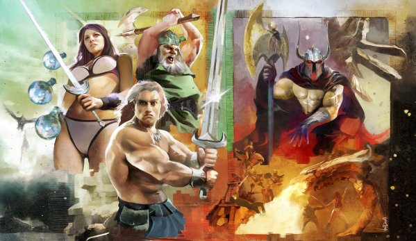 Golden Axe By Vandrell - retro video game art