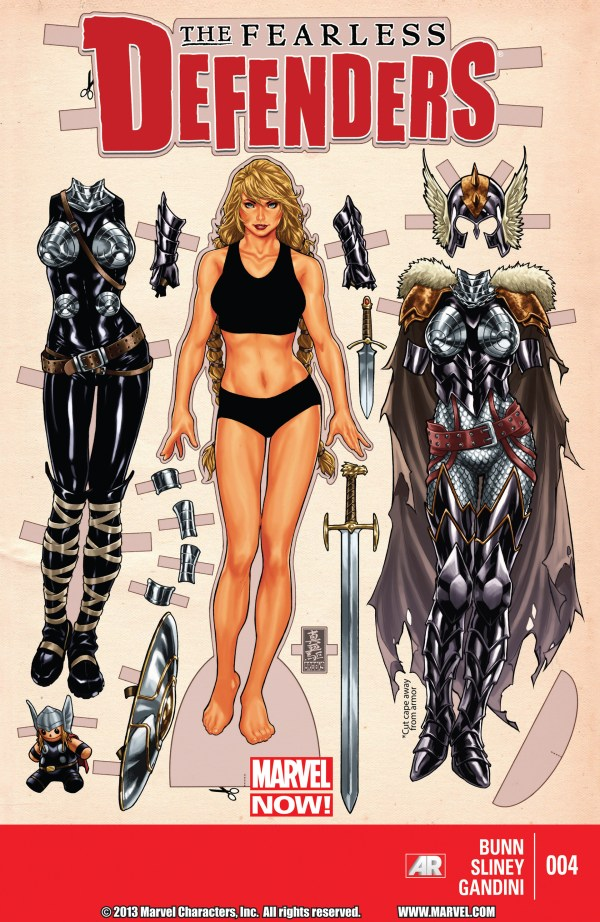 Fearless Defenders #4 Cover by Mark Brooks - Valkyrie Paper Doll