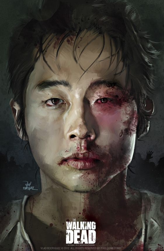 Glenn (Steven Yeun) from Walking Dead by Vlad Rodriguez
