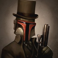 Headhunter - Victorian Boba Fett - Steampunk Star Wars Art by Greg Peltz