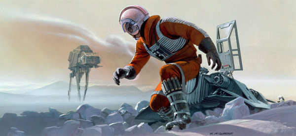 Luke on Honth by Ralph McQuarrie - Star Wars Art