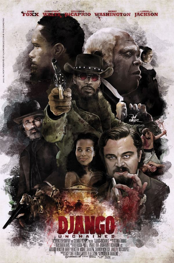 Django Unchained Poster by Vlad Rodriguez - Quentin Tarantino