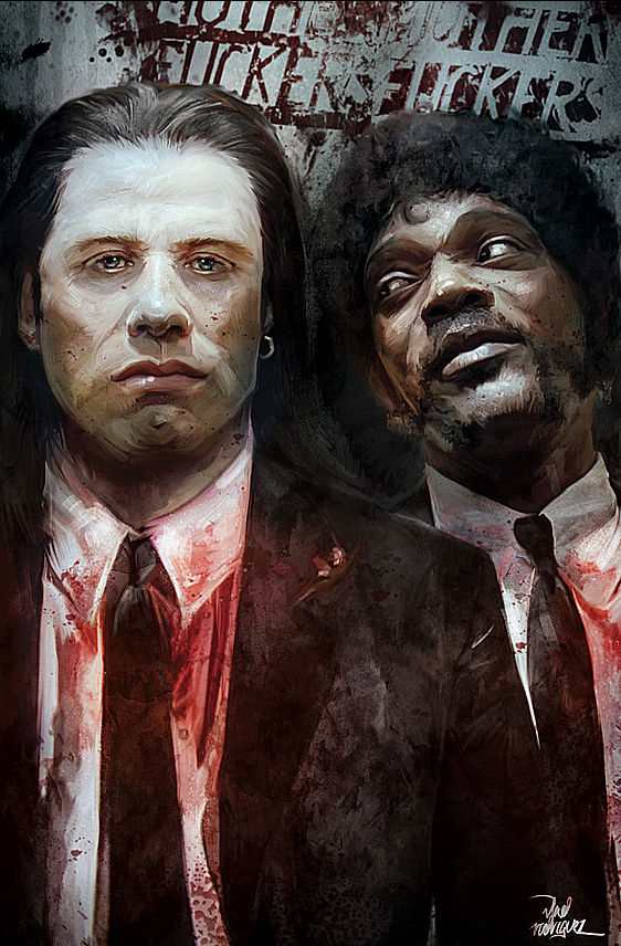 Pulp Fiction Poster by Vlad Rodriguez - Quentin Tarantino