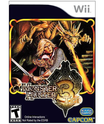 retro monster hunter 3 box art - vintage 1980s style video game covers for modern games