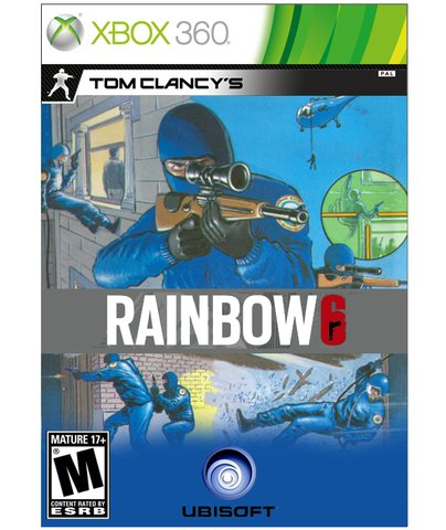 retro rainbow 6 box art - vintage 1980s style video game covers for modern games