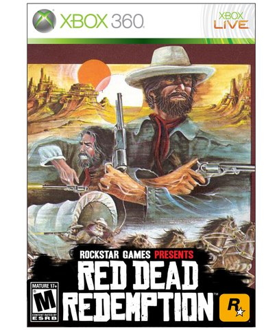 retro red dead redemption box art - vintage 1980s style video game covers for modern games