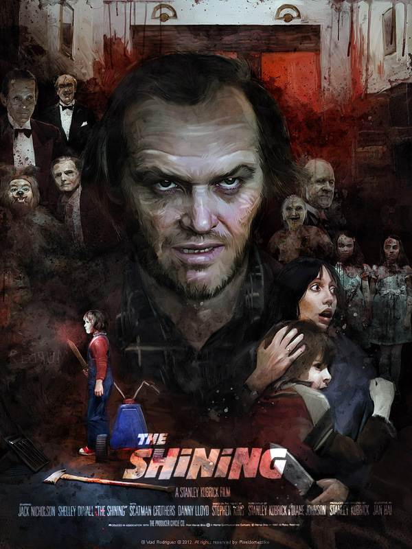 Shining poster by Vlad Rodriguez - Stanley Kubrick - Stephen King