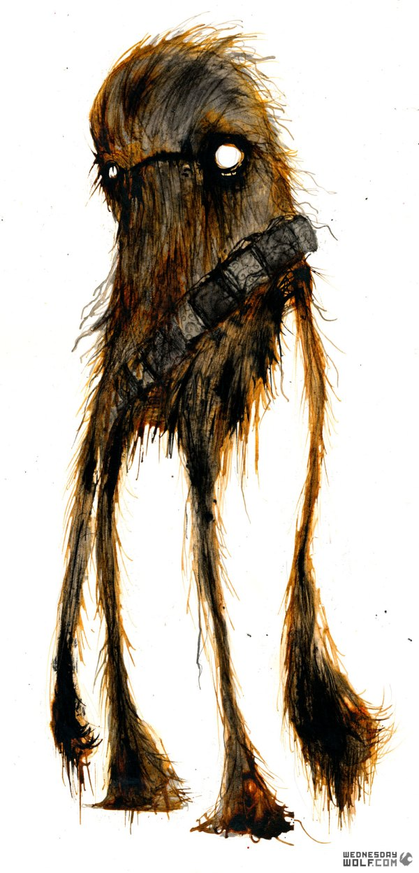 Chewie by Wednesday Wolf - Star Wars Art