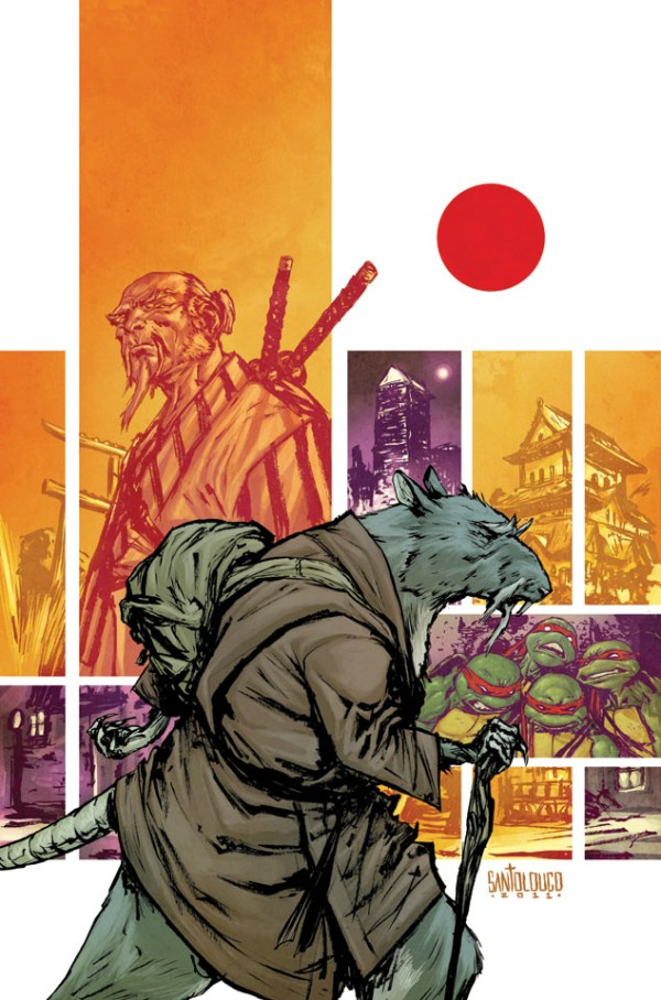 IDW's TMNT #5 Splinter Cover by Mateus Santolouco - Teenage Mutant Ninja Turtles Comics