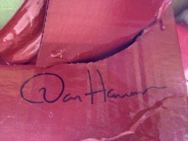Dan Harmon Iron Man Costume Autograph - Community - Made by Rob Schrab