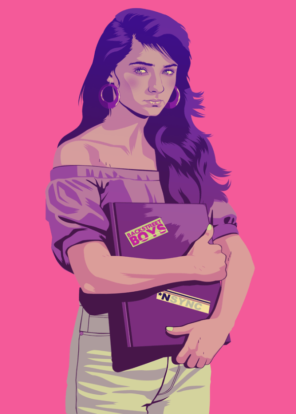 Sansa Stark 90s Style by Mike Wrobel - Game of Thrones