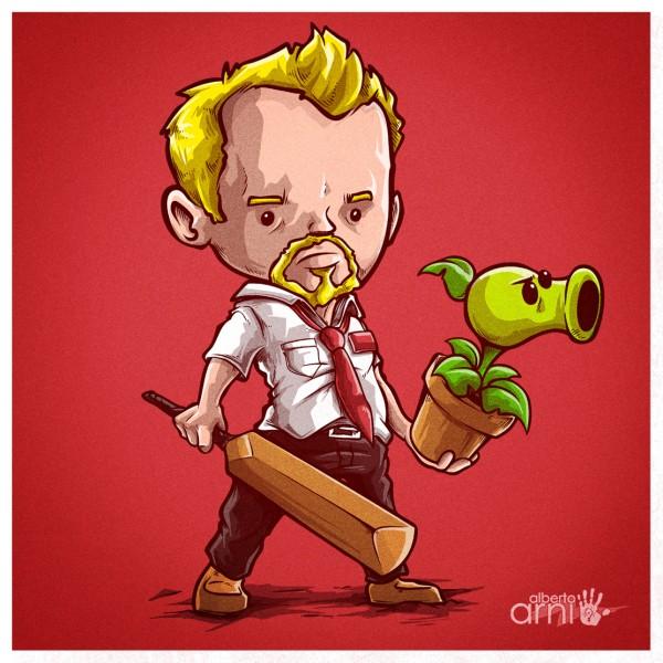 Shaun of the Dead x Plants vs Zombies Mashup by Alberto Arni