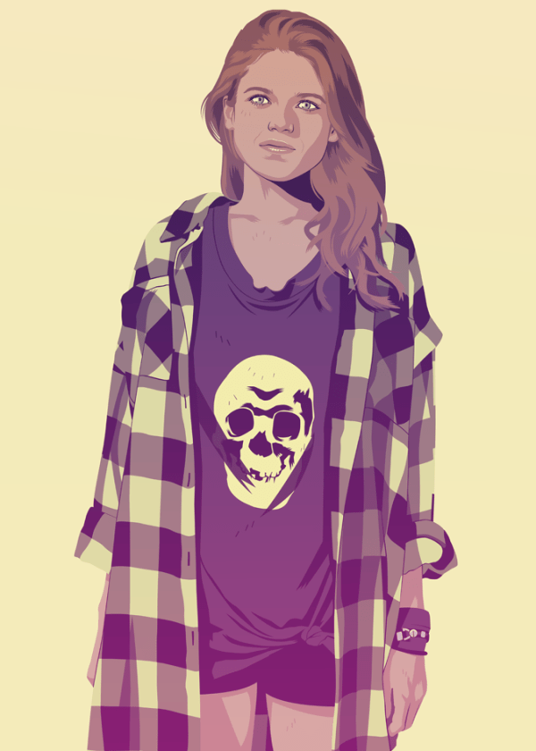 Ygritte 90s fashion Game of Thrones by Mike Wrobel
