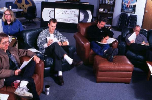 mst3k behind the scenes writers room