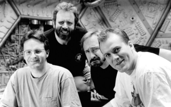 MSTK Behind the Scenes - Jim Mallon, Mike Nelson, Kevin Murphy, Trace Beaulieu - Mystery Science Theater 3000