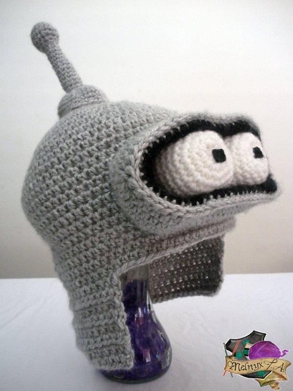 Crocheted Bender Hat by Melnyx - Futurama Crafts