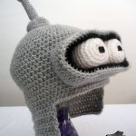 Crocheted Bender Hat by Melnyx - Futurama Crafts