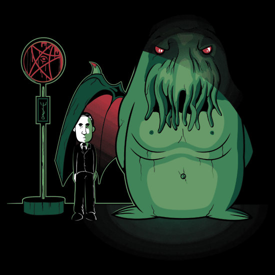 My Neighbor Totoro x H. P. Lovecraft and Cthulhu by Ratigan