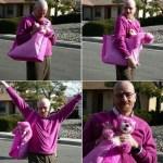 Walter Pinkman: Bryan Cranston Posing in a Pink Sweater