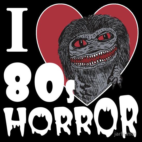I Love 80s Horror T-Shirt by JARHUMOR - Critters