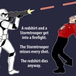 What Happens When a Stormtrooper Attacks a Redshirt? - Star Wars / Star Trek
