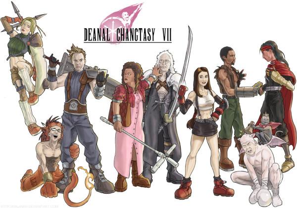 Community x Final Fantasy VII Mashup Art by Ben Deguzman