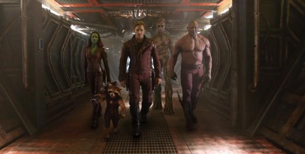 Guardians of the Galaxy (2014) Photo - Zoe Saldana, Chris Pratt and Dave Bautista