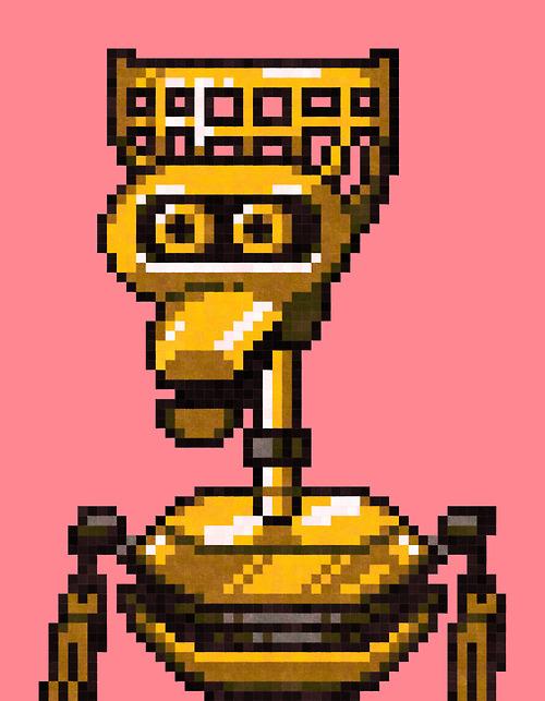 Crow T. Robot - MST3K Pixel Art