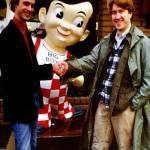 John Waters and David Lynch shaking hands