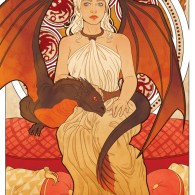 Daenerys Targaryen - Game of Thrones Art Nouveau - A Song of Ice and Fire Illustrations
