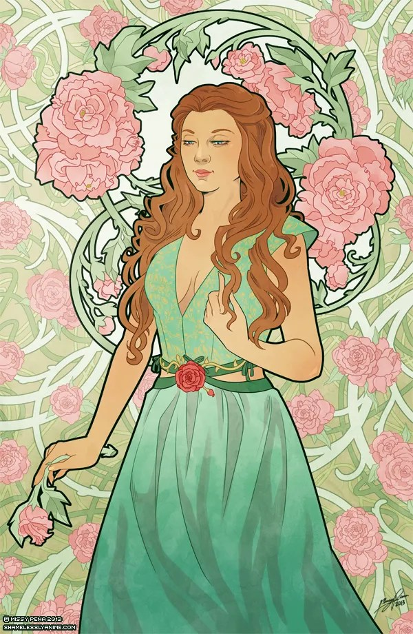 Margaery Tyrell - Game of Thrones Art Nouveau - A Song of Ice and Fire Illustrations