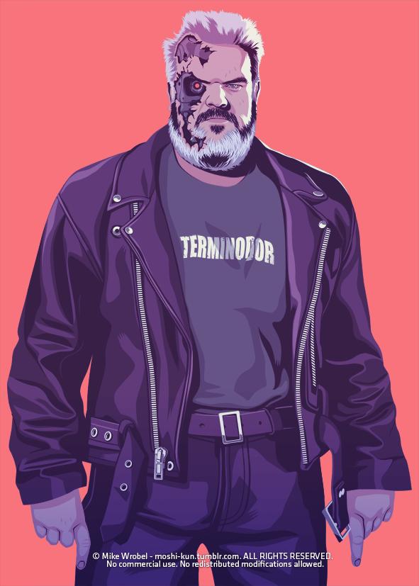 Hodor 80s/90s Style - Terminator - Game of Thrones Art