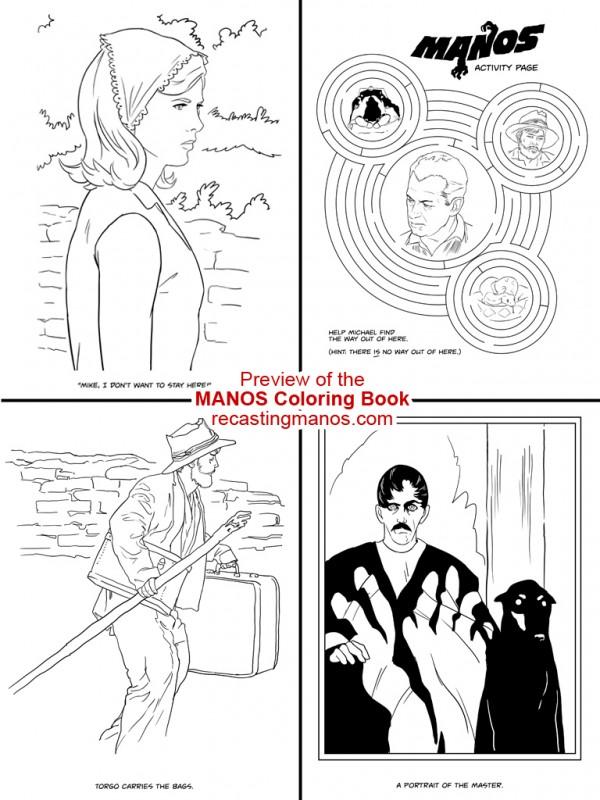 Manos Coloring Book Preview 2