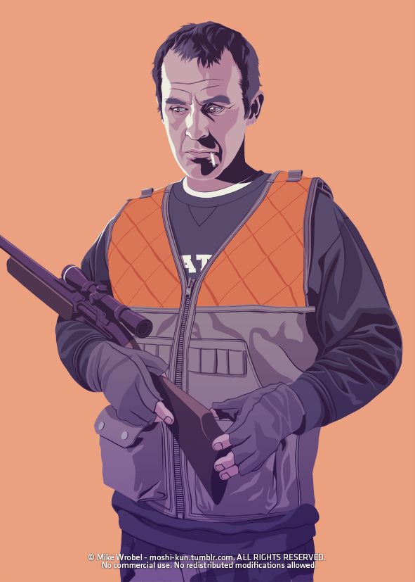 Stannis Baratheon 80s/90s Style - Deer Hunter - Game of Thrones Art by Mike Wrobel