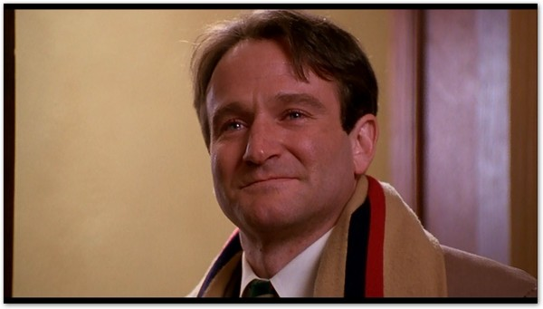 Robin Williams as John Keating in Dead Poets Society
