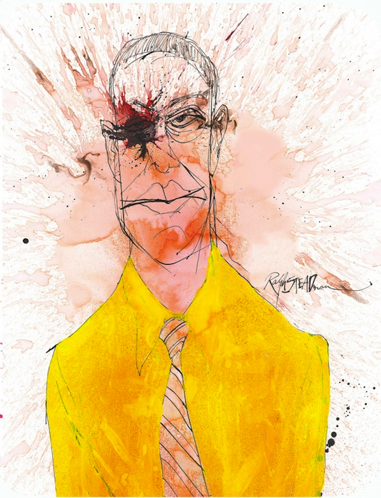 Gus Fring by Ralph Steadman - Breaking Bad Blu-ray Cover