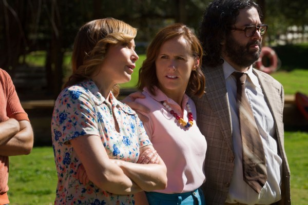 Nina Hellman, Molly Shannon and Judah Friedlander as Nancy, and Gail and Ron Von Kleinenstein - Wet Hot American Summer First Day of Camp